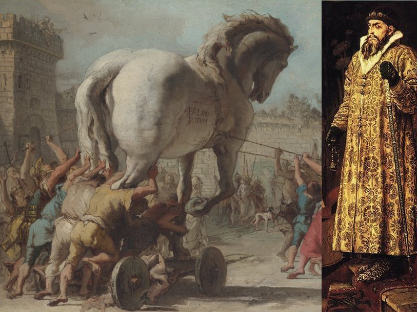 Древнегреческий воин троянской войны